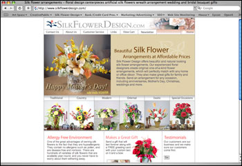 silk flowers ecommerce site