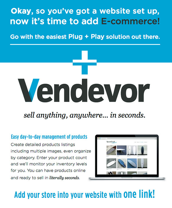 vendevor shopping cart software
